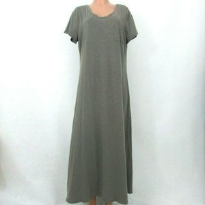 Cacique 14/16 Maxi T-Shirt Gown Nightgown FLAW